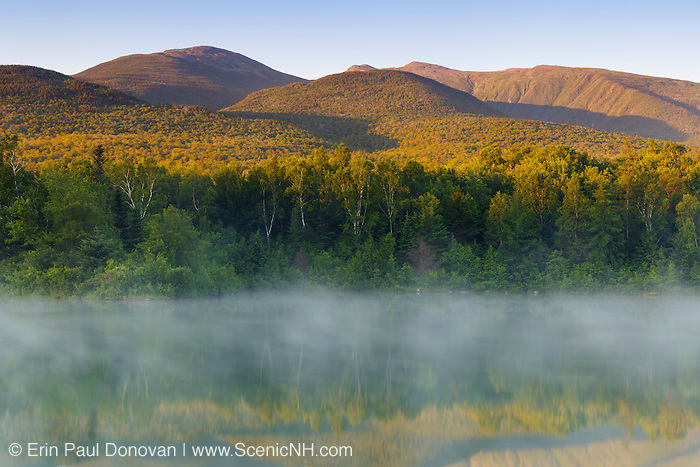 Durand Lake in Randolph, New Hampshire USA at sunrise during the summer months.