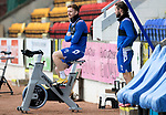 St Johnstone Training...14.05.21<br />Liam Craig warms up before training at McDiarmid Park this morning ahead of tomorrows final league game of the season against Livingston.<br />Picture by Graeme Hart.<br />Copyright Perthshire Picture Agency<br />Tel: 01738 623350  Mobile: 07990 594431