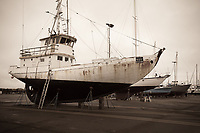 Commercial Fishing Boat, Repair Shipyard, Port of Astoria, Oregon