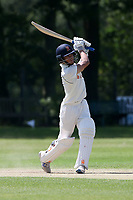 Robin Das hits 4 runs for Wanstead during Wanstead and Snaresbrook CC vs Harold Wood CC, Hamro Foundation Essex League Cricket at Overton Drive on 17th July 2021