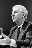 Montreal (QC) Canada- - DEc  1986 File Photo- CRTC Hearing- - Claude Chagnon