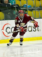 16 October 2010: Boston College Eagles' defender Blake Bolden, a Sophomore from Stow, Ohio, in action against the University of Vermont Catamounts at Gutterson Fieldhouse in Burlington, Vermont. The Eagles defeated the Lady Cats 4-1 in the second game of their weekend series. Mandatory Credit: Ed Wolfstein Photo