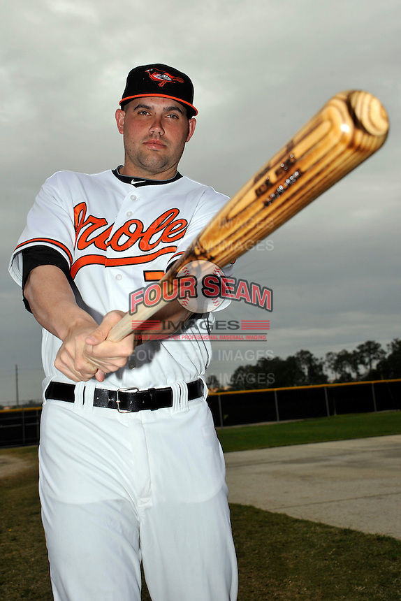Feb 27, 2010; Tampa, FL, USA; Baltimore Orioles  infielder Rhyne Hughes (70) during  photoday at Ed Smith Stadium. Mandatory Credit: Tomasso De Rosa/ Four Seam Images