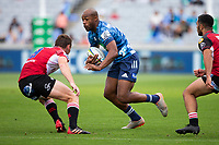 March 14th 2020, Eden Park, Auckland, New Zealand;  Blues winger Mark Telea in action against the Lions during the Super Rugby match between the Blues and the Lions, held at Eden Park, Auckland, New Zealand.