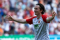 of  Michael Grogoritsch (FCA)<br /> <br /> , FC Augsburg vs. 1. FSV Mainz 05, 1.Bundesliga, 22.04.2018 *** Local Caption *** © pixathlon<br /> Contact: +49-40-22 63 02 60 , info@pixathlon.de
