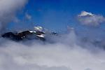 Hurricane Hill, above Hurricane Ridge,peaks above clouds in the north end of the Olympic Mountains, Olympic Mountain National Park, on the Olympic Penninsula, Washington State, near Hurricane Ridge. Olympic Peninsula