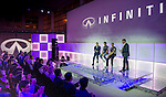 Infiniti Red Bull Racing driver Mark Webber of Australia attends launching ceremony of Infiniti Engineering Academy at Infiniti IREDI Center on October 30, 2013 in Dubai, UAE. Photo by Victor Fraile / The Power of Sport Images