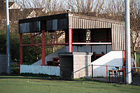 The main stand at Radstock Town FC Football Ground, Southfields Recreation Ground, Radstock, Somerset, pictured on 27th March 1997