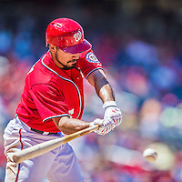 31 May 2014: Washington Nationals infielder Anthony Rendon in action against the Texas Rangers at Nationals Park in Washington, DC. The Nationals defeated the Rangers 10-2 to notch their second win of the 3-game inter-league series. Mandatory Credit: Ed Wolfstein Photo *** RAW (NEF) Image File Available ***