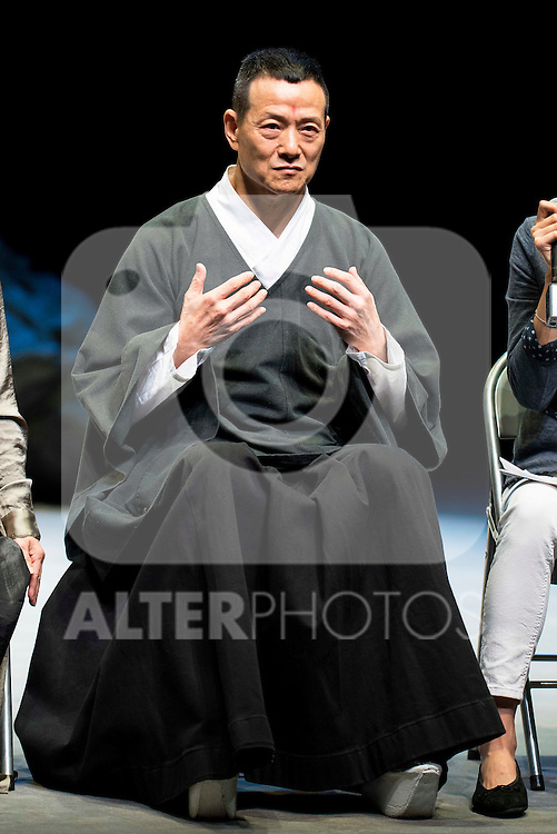 "Chinese actor Wu Hsing-Kuo during the theater play of ""King Lear"" at Teatros del Canal in Madrid. May 27, 2016. (ALTERPHOTOS/Borja B.Hojas)"