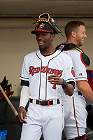 Rochester Red Wings Nick Gordon (1) before an International League game against the Buffalo Bisons on May 31, 2019 at Frontier Field in Rochester, New York.  Rochester defeated Buffalo 5-4 in ten innings.  (Mike Janes/Four Seam Images)