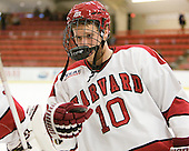 Eric Kroshus (Harvard - 10) - The Harvard University Crimson defeated the visiting Yale University Bulldogs 8-2 in the third game of their ECAC Quarterfinal matchup on Sunday, March 11, 2012, at Bright Hockey Center in Cambridge, Massachusetts.
