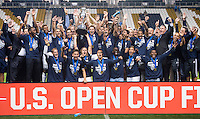 Chester, PA - September 30, 2015: Sporting Kansas City defeated the Philadelphia Union during the finals of the US Open Cup at PPL Park.