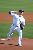 Dunedin Blue Jays starting pitcher Aaron Sanchez #10 delivers a pitch during a game against the Tampa Yankees on April 11, 2013 at Florida Auto Exchange Stadium in Dunedin, Florida.  Dunedin defeated Tampa 3-2 in the 11th inning.  (Mike Janes/Four Seam Images)