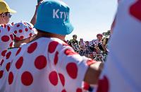 Tom Skujins (LAT/Trek Segafredo) keeps the Polka Dot Jersey yet another day. <br /> <br /> Stage 6: Brest > Mûr de Bretagne / Guerlédan (181km)<br /> <br /> 105th Tour de France 2018<br /> ©kramon