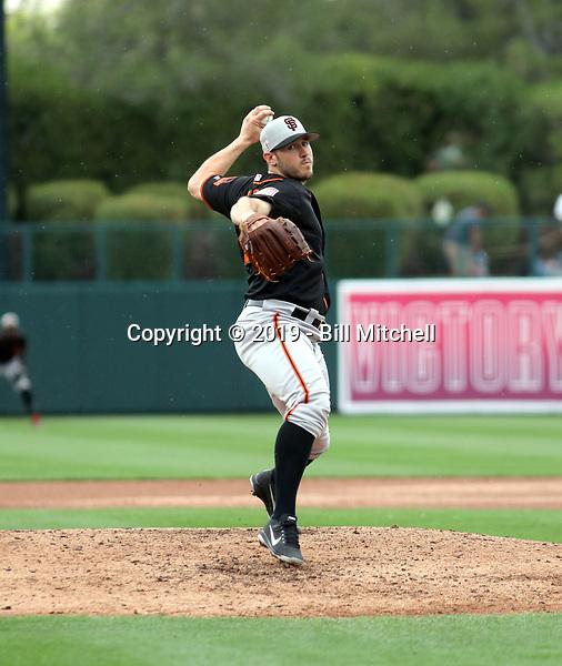 Ty Blach - San Francisco Giants 2019 spring training (Bill Mitchell)