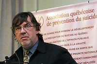 Dr Marquis Fortin<br /> conference de presse sur la prevention du suicide<br /> photo : Delphine Descamps - Images Distribution