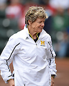 Michigan Wolverines head coach Carol Hutchins during the season opener against the Florida Gators on February 8, 2014 at the USF Softball Stadium in Tampa, Florida.  Florida defeated Michigan 9-4 in extra innings.  (Copyright Mike Janes Photography)