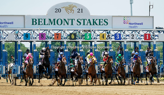 June 5, 2021: Lone Rock, #9, ridden by jockey Ramon Vazquez wins the Brooklyn Stakes on Belmont Stakes Day at the Belmont Stakes Festival at Belmont Park in Elmont, New York. Dan Heary/Eclipse Sportswire/CSM