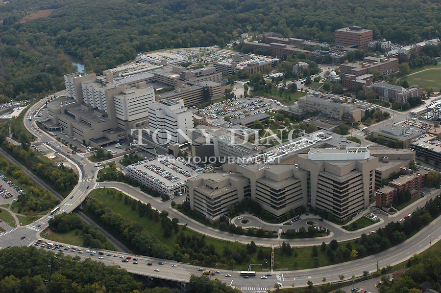 University of Michigan Medical Campus. Aerial photos taken from the Goodyear Blimp over Ann Arbor, Mich. on Friday, September 26, 2003. (TONY DING/Daily)