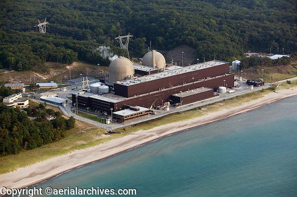 aerial photograph of Donald C Cook Nuclear Generating Station Bridgeman Michigan