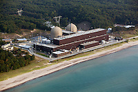aerial photograph of Donald C Cook Nuclear Generating Station Bridgeman Michigan