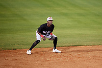 Chattanooga Lookouts shortstop Nick Gordon (1) during a game against the Mobile BayBears on May 5, 2018 at Hank Aaron Stadium in Mobile, Alabama.  Chattanooga defeated Mobile 11-5.  (Mike Janes/Four Seam Images)