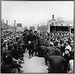 Sentenced to two years of hard labor Yuan Fengxiang and Deng Guoxing are led away. Ashihe commune, Acheng county, 12 May 1965