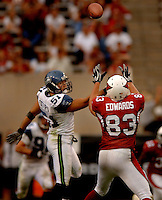 Nov. 6, 2005; Tempe, AZ, USA; Tight end (83) Eric Edwards of the Arizona Cardinals against the Seattle Seahawks at Sun Devil Stadium. Mandatory Credit: Mark J. Rebilas
