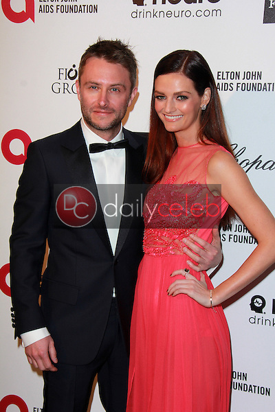 Chris Hardwick, Lydia Hearst<br /> at the 23rd Annual Elton John Academy Awards Viewing Party, City of West Hollywood Park, West Hollywood, CA 02-22-15<br /> David Edwards/DailyCeleb.com 818-249-4998