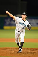 Jupiter Hammerheads pitcher Nick Wittgren (13) during a game against the Tampa Yankees on July 17, 2013 at Roger Dean Stadium in Jupiter, Florida.  Jupiter defeated Tampa 4-3.  (Mike Janes/Four Seam Images)