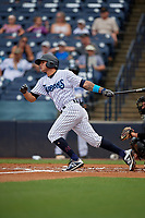 Tampa Tarpons Pablo Olivares (7) bats during a Florida State League game against the Jupiter Hammerheads on July 26, 2019 at George M. Steinbrenner Field in Tampa, Florida.  Tampa defeated Jupiter 2-0.  (Mike Janes/Four Seam Images)