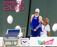 LEN START BANNER<br /> 50m Breaststroke Women <br /> London, Queen Elizabeth II Olympic Park Pool <br /> LEN 2016 European Aquatics Elite Championships <br /> Swimming<br /> Day 13 21-05-2016<br /> Photo Andrea Staccioli/Deepbluemedia/Insidefoto