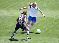 LA Sol's Stephanie Cox defends against Boston Breakers Kelly Smith. The Boston Breakers and LA Sol played to a 0-0 draw at Home Depot Center stadium in Carson, California on Sunday May 10, 2009.   .