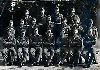 BNPS.co.uk (01202 558833)<br /> Pic: HannBooks/BNPS<br /> <br /> PICTURED: Some of SAS operation Galia unit in September 1945. Paratrooper Stanley Hann pictured middle row second right.<br /> <br /> Remarkable photos taken deep behind enemy lines by an SAS unit during a daring wartime operation have come to light on the 75th anniversary of the mission. <br />  <br /> The little-known Operation Galia on the 27th December 1944 involved just 33 SAS men hoodwinking the Nazis and their fascist allies into thinking a much greater force had landed behind them in Italy in December 1944.<br />  <br /> Adolf Hitler's forces had just launched a major surprise offensive in the Ardennes Forest in Belgium that became known as the Battle of the Bulge.<br /> <br /> Robert Hann, whose late father was SAS Paratrooper Stanley Hann, retraced his father's wartime experiences and part of his [father's] epic 80 mile long escape route through the Apennine mountains which the men took, to help him write the book 'SAS Operation Galia.'