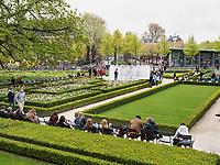Garten des Rijksmuseum, Stadthouderskade 42, Amsterdam, Provinz Nordholland, Niederlande<br /> Garden of Rijksmuseum, Stadthouderskade 42, Amsterdam, Province North Holland, Netherlands