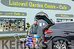 Garden Supplies Home Delliveries: Nick Roberts of Listowel Garden Centre pictured loading up his car to do home deliveries.