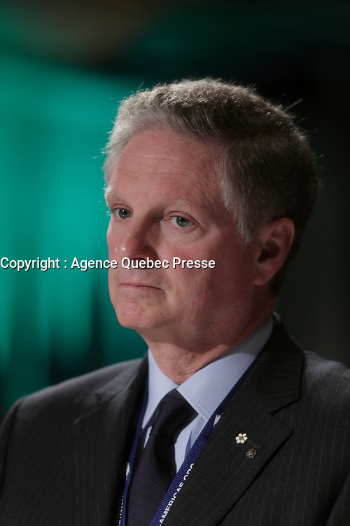 Montreal, CANADA, June, 2015  File Photo<br /> Paul Desmarais Jr, Chairman and Co-Chief Executive Officer of Power Corporation of Canada.<br /> <br /> , attend the The International Economic Forum of the Americas<br /> <br /> Photo :   Pierre Roussel - AQP