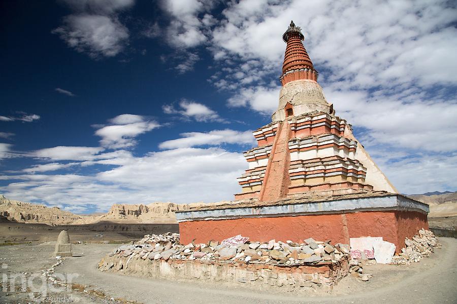 The Chorten at Tsada, Western Tibet