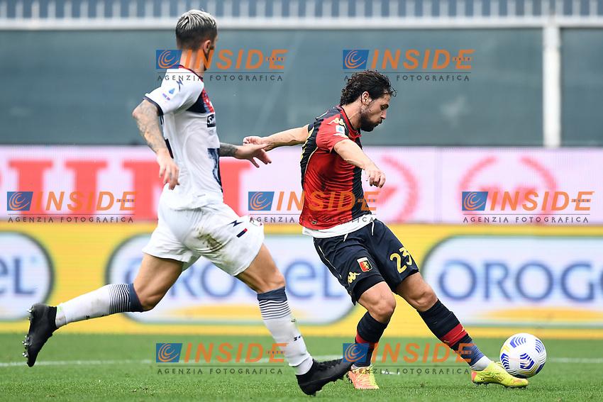 Mattia Destro <br /> Serie A football match between Genoa CFC and FC Crotone at Marassi Stadium in Genova (Italy), September 20th, 2020. Photo Image Sport / Insidefoto