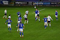 Kieffer Moore of Cardiff City battles with Ryan Bennett of Swansea City during the Sky Bet Championship match between Swansea City and Cardiff City at the Liberty Stadium in Swansea, Wales, UK. Saturday 20 March 2021