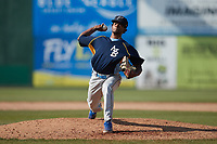Myrtle Beach Pelicans relief pitcher Eduarniel Nunez (51) in action against the Lynchburg Hillcats at Bank of the James Stadium on May 23, 2021 in Lynchburg, Virginia. (Brian Westerholt/Four Seam Images)