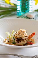 Coconut shrimp appetizer<br /> The Terrace Restaurant<br /> Buccaneer Resort<br /> St. Croix