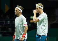Rotterdam, The Netherlands, February 12, 2016,  ABNAMROWTT, Dominic Inglot (GBR) / Robert Lindstedt (SWE)<br /> Photo: Tennisimages/Henk Koster