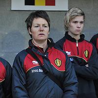 Qualification Women's Euro 2013 - Belgium - Iceland ; Belgie - Ijsland ; Armand Melis Stadion Dessel :.Fabienne Van De Steene (physio).foto DAVID CATRY / Vrouwenteam.be