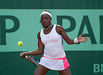 Sloane Stephens (USA) wins  in first round at Roland Garros in Paris, France on May 28, 2012