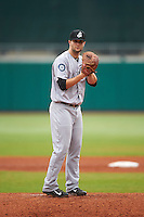 Jackson Generals pitcher Jake Zokan (46) gets ready to deliver a pitch during a game against the Montgomery Biscuits on April 29, 2015 at Riverwalk Stadium in Montgomery, Alabama.  Jackson defeated Montgomery 4-3.  (Mike Janes/Four Seam Images)