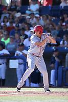 Kole Enright (10) of the Spokane Indians bats against the Hillsboro Hops at Ron Tonkin Field on July 22, 2017 in Hillsboro, Oregon. Spokane defeated Hillsboro, 11-4. (Larry Goren/Four Seam Images)