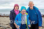 Enjoying a stroll in Ballyheigue on Sunday, l to r: Colette, Mike and Timmy Casey