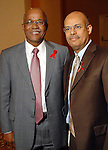 From left: Willie Stanfield and Mike Stewart at the World AIDS Day Luncheon benefitting AIDS Foundation Houston at the Four Seasons Hotel Tuesday Dec. 01,2009. (Dave Rossman/For the Chronicle)